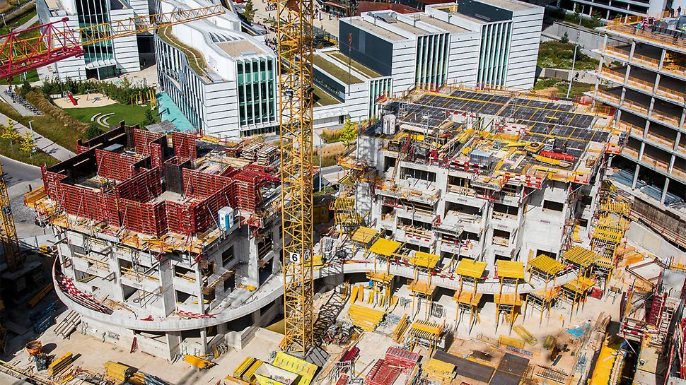 The TRIO Wall Formwork and SKYDECK Slab Formwork have ensured fast working operations in order to be able to maintain the extremely short construction schedule of only 10 months.