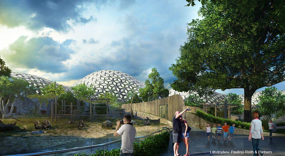 Az International Property Awards díjátadón 2018-ban Európa legjobb szabadidős épületének választották a Pannon Park Biodóm projektet. Látványterv, forrás: Paulinyi-Reith & Partners