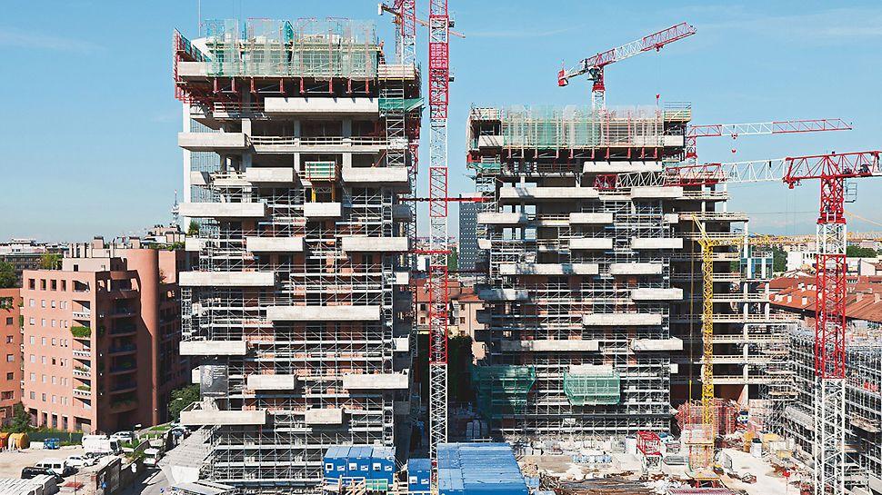 "Il Bosco Verticale, Milano, Italija - oba stambena tornja kompleksa ""Il Bosco Verticale"" dio su ekološkog koncepta nebodera iz pera talijanskog arhitekta Stefana Boerija."