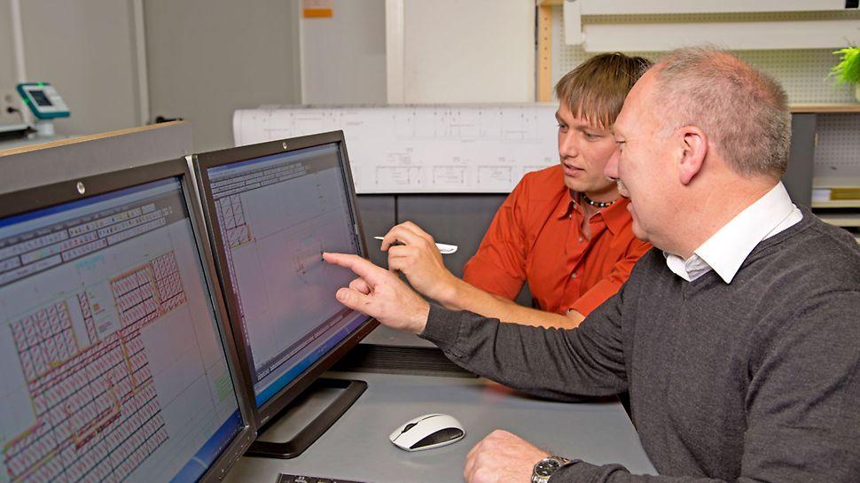 Les ingénieurs conçoivent et élaborent des solutions de coffrage et d'échafaudage en tenant compte des nécessités techniques, des conditions générales en cours d'utilisation et des exigences individuelles des clients.
