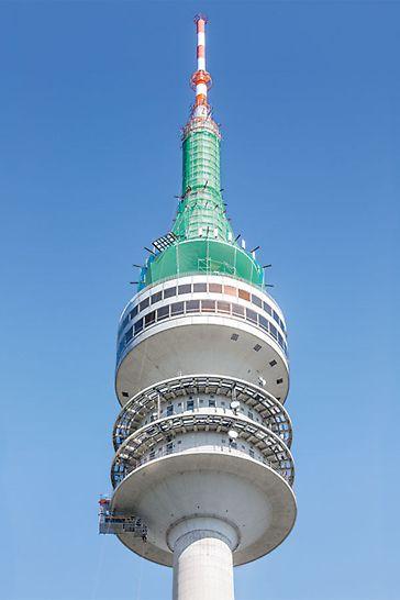 Der 291 m hohe Olympiaturm ist das höchste Bauwerk Münchens und seit seiner Fertigstellung im Jahr 1968 ein weithin sichtbares Wahrzeichen der bayerischen Landeshauptstadt.