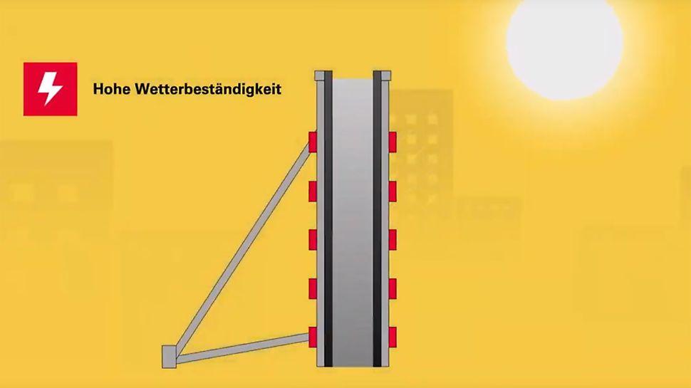 Die FinPly Maxi Schalungsplatte ist eine Großflächenschalungsplatte für anspruchsvolle, fugenarme Sichtbetonoberflächen.