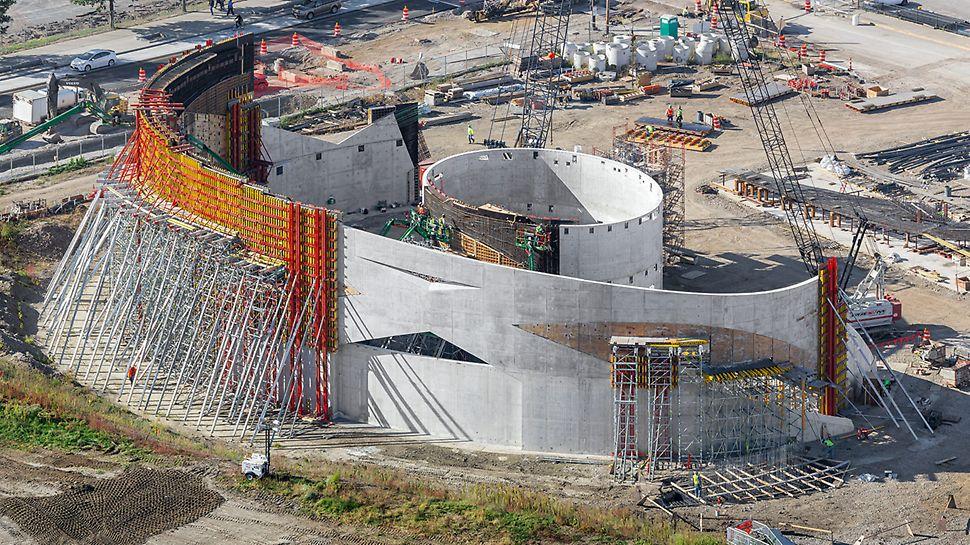 Die ebenso beeindruckende wie anspruchsvolle Gebäudeform stellte die Projektbeteiligten vor einige Herausforderungen.