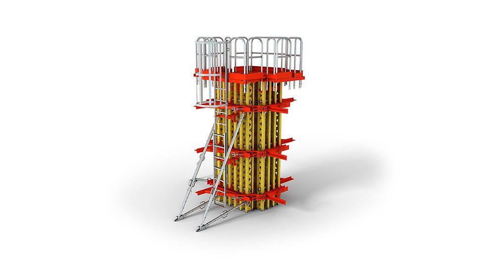 Deskowanie słupów idealne dla dużych przekrojów i powierzchni w jakości betonu licowego.