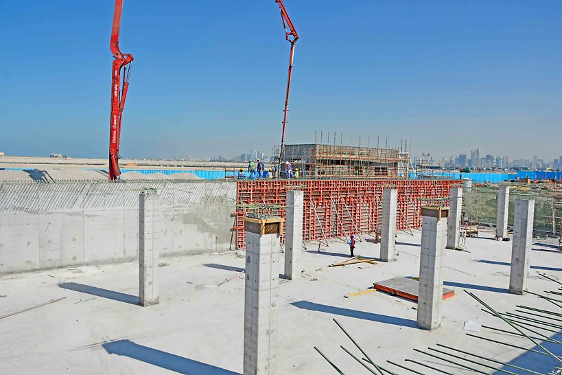 TRIO wall formwork is used on this project