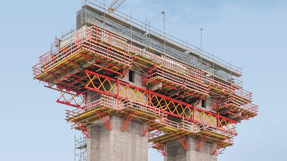 Subconcessão do Pinhal Interior, IC3 lanço Condeixa/Coimbra - Ponte sobre o Rio Ceira - Viga travessa P4, execução da 4ª fase de betonagem