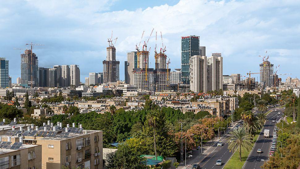 "Silueta Tel Aviva s pogledom na gradilište Alon Towera ""BSR Center TLV"""
