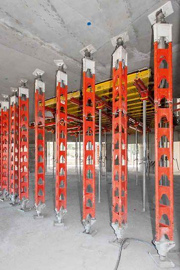 Los puntales permiten aplicaciones múltiples – desde rehabilitaciones de estructura hasta la construcción de puentes.