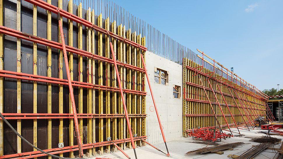 балочно-ригельная опалубка, опалубка стен, реконструкция бассейна, бассейн в Лужниках