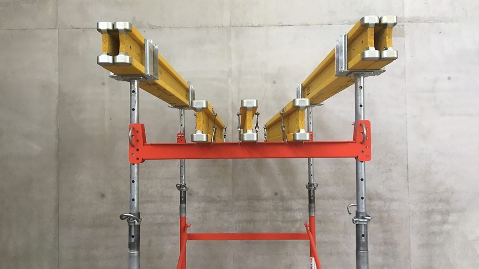 With the slab formwork, you can even create beams at various heights at the same time.