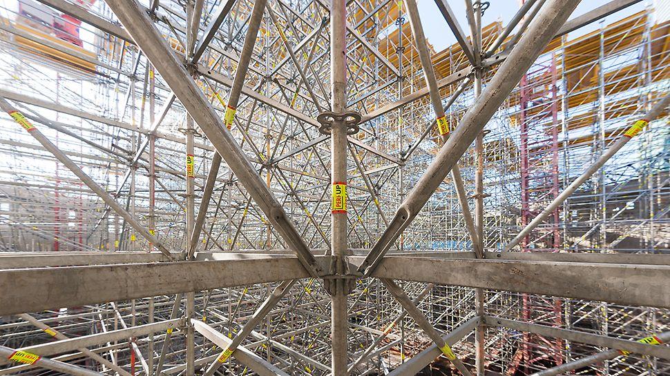 Несущие башни из строительных лесов- универсальная конструкция высокой несущей способности