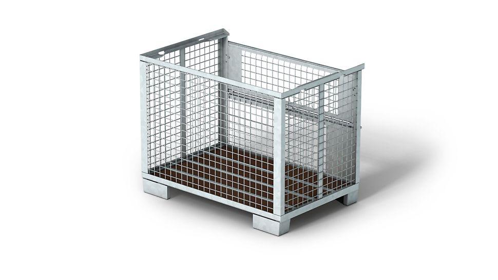Gitterboks til transport av komponenter som er vanskelig å stable