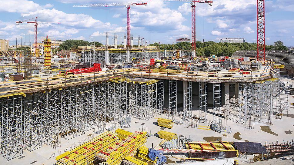 ВТБ Арена - система PERI UP для опалубливания перекрытий