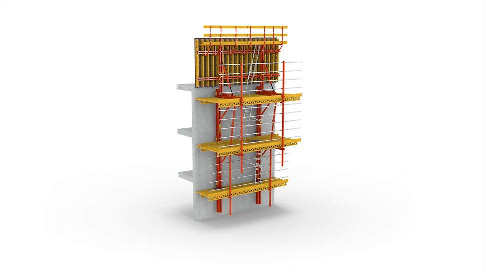 PERI RCS climbing combines the advantages of different systems in a modular system that makes the easy adaptation to site-specific requirements possible.