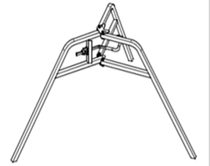 Universal tripod, the erection aid for slab props