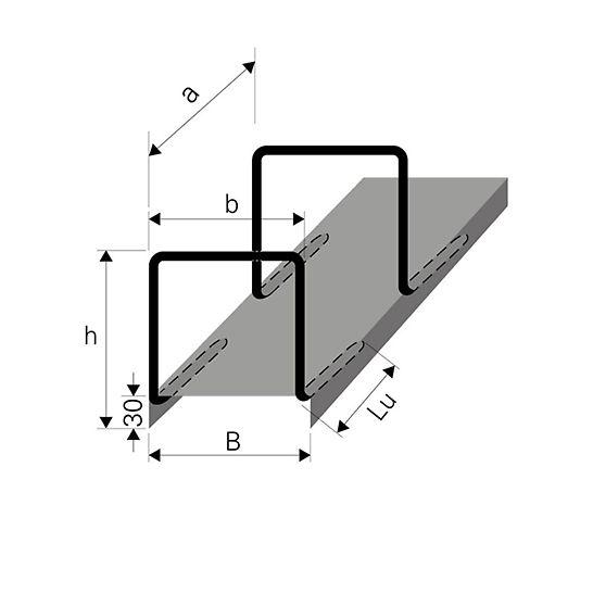 System zakotwień uciąglających zbrojenie Typ S - schemat