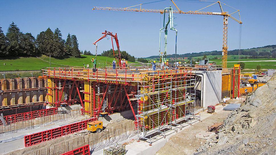 Tunnel Reinertshof, Füssen, Deutschland | Betonieren auf Lücke beschleunigt Baufortschritt
