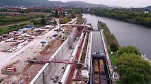 Moselschleuse, Trier, Deutschland - Projektspezifische Schalungslösung mit hohem Vorfertigungsgrad