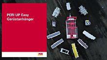 Der Gerüstanhänger der Firma Weyres Gerüst-Transport-System GmbH ist ideal für den Transport und die Lagerung vom Fassadengerüst PERI UP Easy in der Breite 67 geeignet.
