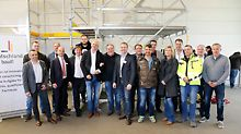 Team der PERI Niederlassung Berlin und Gäste
