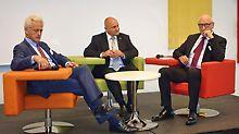 Spannende Diskussion zwischen Unternehmen und Politik bot das Unternehmergespräch mit Staatssektretär Rainer Bomba. (Foto: Deutschland baut! e.V)