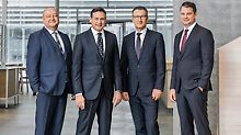 As of January 1, 2018, the Group Management of three managing directors, will be extended by Dr. Rudolf Huber a Chief Executive Officer (CEO) and thus, from this date on, consists of four persons. Fra 1. januar 2018 blir styreledelsen på tre utvidet med Dr. Rudolf Huber a Chief Executive Officer (CEO). (fra venstre) Leonhard Braig, Alexander Schwörer, Dr. Rudolf Huber and Dr. Fabian Kracht