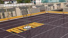 Zusätzliche Systembauteile wie Säulenrahmen und Ausgleichsträger ermöglichen das einfache und sichere Schließen von Passflächen.