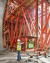 Proširenje podzemne željeznice Alger - PERI rješenje kolica za montažu na osnovi VARIOKIT inženjerskog modularnog sistema idealno je prilagođeno svim gradilišnim zahtjevima i njime se hidraulički rukuje.