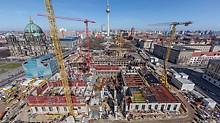 Beim Wiederaufbau des Humboldt-Forums in Berlin, Deutschland setzten die Bauherrn auf PERI MAXIMO. Das Wandschalungssystem ermöglichte die sichere und wirtschaftliche Herstellung der vertikalen Stahlbetonbauteile.