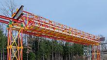ALPHAKIT ist der neue Baukasten für Traggerüste für Brücken mit bis zu 25 m Höhe und Spannweite.