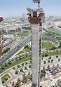 Dubai Frame, United Arab Emirates: The climbing units, consisting of wall formwork and platforms, were moved from storey to storey using an integrated hydraulic system.