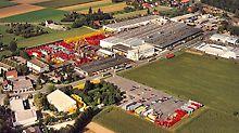 Areál PERI ve Weissenhornu se rozšířil o 40 000 m² na 150 000 m².