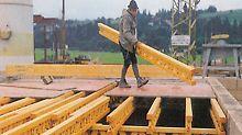 Als Weiterentwicklung des T 70 V mit 36 cm Höhe sorgt der neue Holzgitterträger GT 24 bei gleicher Formstabilität und mit 12 cm geringerer Bauhöhe für mehr Flexibilität auf der Baustelle.