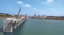 PERI Pressemeldung: Fertigstellung in Reichweite: Flutung eines Kanalabschnitts Ausbau des Panamakanals