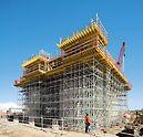 Cimbra PERI UP Flex:Gracias a la estructura modular el andamio se adapta óptimamente a cualquier carga.