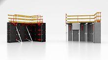 Die Leichtschalung für Wände, Säulen und Decken