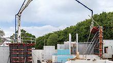 Von Beginn an war angedacht, die DUO Paneele sowohl für horizontale, als auch für vertikale Anwendungen einzusetzen – also zur Herstellung der Decken, Säulen und Wände. (Foto: seanpollock.com)