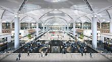 Aeroportul din Istanbul poate găzdui 90 de milioane de pasageri anual. Un total de 13 contractori de construcții au contribuit la finalizare folosind sisteme PERI.