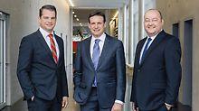 PERI Geschäftsführung: v.l.n.r. Dr. Fabian Kracht, Alexander Schwörer, Leonhard Braig - Produktionskapazitäten für Gerüstsysteme