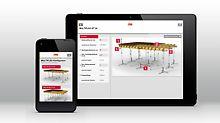 App Darstellung Handy und Tablet