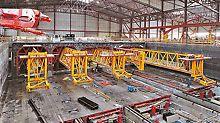Jednotlivé části tunelu byly vyráběny ve speciální výrobně přímo v loděnicích, za pomoci pontonů dopravovány na otevřené moře a potopeny na mořské dno.