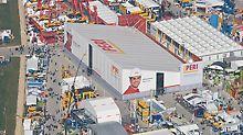 Die bauma hat sich zur Weltleitmesse der Baumaschinenbranche entwickelt. PERIs imposante Messehalle hat eine Fläche von über 4.000 m².