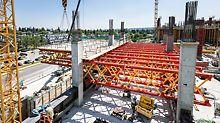 Die moderne VRB Lösung befindet sich an zwei Stellen der Baustelle – und stellt den Höhepunkt der gemeinsamen Planungsphase zwischen PERI und PCL Construction dar.
