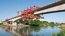 Herstellung von Überbauten im Freivorbauverfahren – schnell und maßhaltig zum Brückenschluss