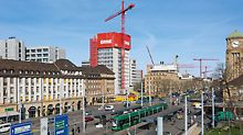 Demolition of the centrally located Syngenta high-rise building was hardly noticed in the immediate surroundings.