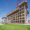 """Baustelle im Stadtquartier am Hirschgarten, MK 4 """"Friends"""", München"""