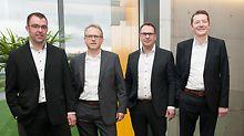 Het management van PERI BeNeLux (vlnr.): Olivier Jantzen, Reiner Schwarz, Rudi Marinus en Peter Dillen.