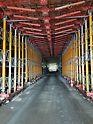 Für den Baustellenverkehr musste eine Durchfahrt von 4.00m x 4.50m permanent freigehalten werden
