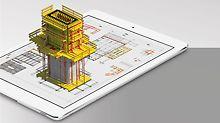 Con l'app PERI Extended Experience, è possibile la visualizzazione in 3D dei progetti in costruzione, anche su smartphone.  (Grafica: PERI GmbH)