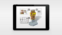 Die einzelnen, vormontierten Schalungseinheiten werden mit einem QR Code versehen, der direkten Zugriff auf vielfältige Daten per Klick ermöglicht. So werden mit dem 3D-Modell u. a. Zeichnungen oder auch Montageanleitungen verknüpft.